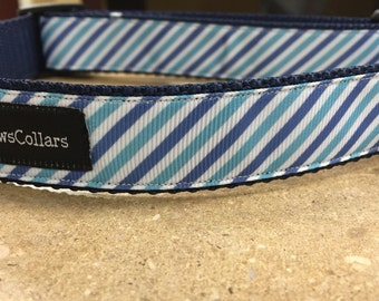 Shades of Blue Stripe Collar