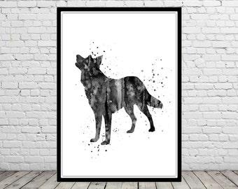 Lapponian Herder, watercolor Lapponian Herder,  animal print, dog print, animal art, dog, Kids Room Decor, Poster, wall art, print (1406b)