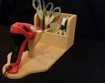 Craft,card making, wooden  Glue gun stand ,storage,glue gun holder, glue gun stand,craft room tool,hot glue gun stand,