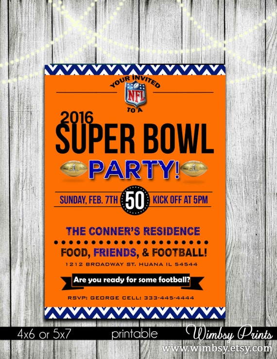 This is an image of Canny Super Bowl Party Invitations Free Printable