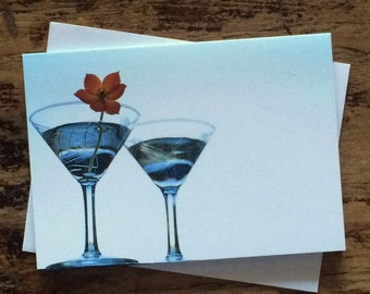 Martini Glasses 2 note card