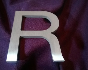 "The Letter 'R"", cast in aluminum"