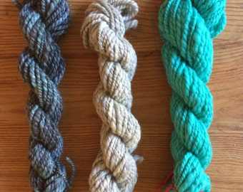 CHILLY WIND - weaving kit - 3 skeins
