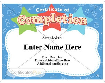 certificate of completion for kids thevillas co