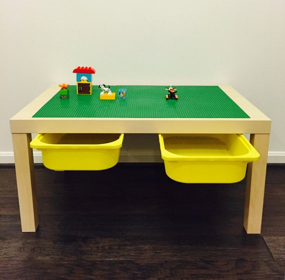 Large lego table with storage for Large toy box ikea