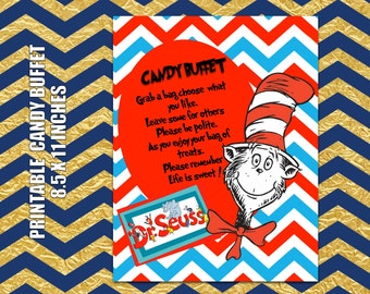 ITEM 049 - Dr. Seuss Candy Buffet Printable note