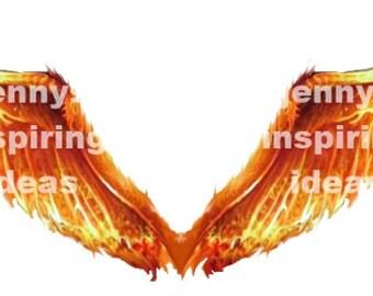 Phoenix Fire Wings A4 Transparency Sheet