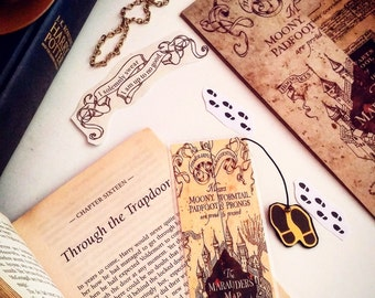 Harry Potter Marauder Map//Handmade: Bookmark