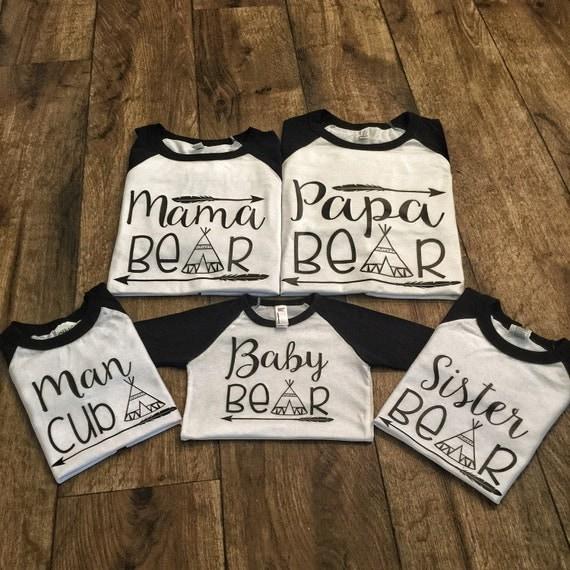 Mama Bear Papa Bear And Baby Bear Matching By