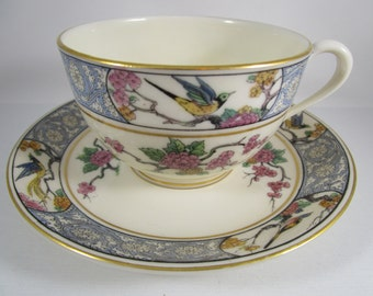 Cup and Saucer, Lenox Ming, Birds, 1917-1963