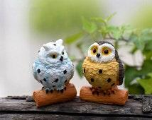 Miniature Doll Bird Indoor Fairy Garden Owl Owlet Figurine 1X
