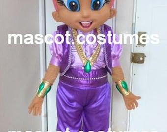 New genie sister Mascot Costume Professional Character 5u0027 ...  sc 1 st  Etsy & New genie Mascot Costume Character 5u0027 9