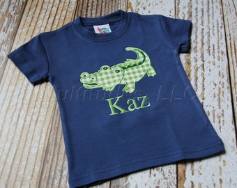 Boys Alligator Applique Shirt