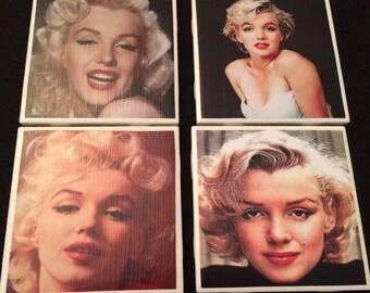 Marilyn Monroe coasters