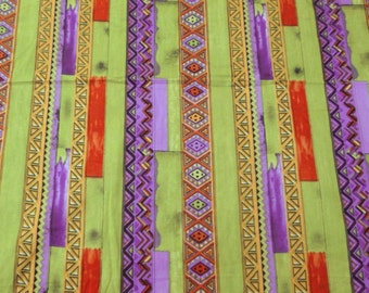 """Pure Cotton Indian Fabric Abstract Printed Pattern 47"""" Wide Multi-color Sewing Crafting Apparel Dress Drape Fabric Material By 1 Yd ZBC5401"""