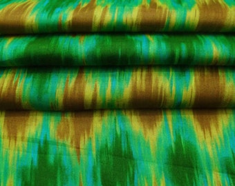 Dressmaking Indian Pure Cotton Sewing Fabric Supplies Green Crafting Printed Upholstery Apparel Material Sewing Fabric By 1 Yard ZBC8481B