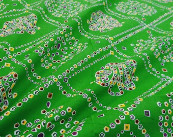 Traditional Print Cotton Green Fabric Decorative Indian Fabric Crafting Apparel Drape Sewing Dressmaking Material Fabric By 1 Yard ZBC6508