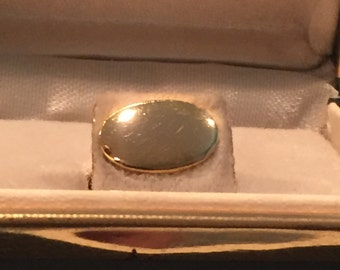 """Gold Filled 1/2"""" wide X 5/16"""" high Oval Tie Tack by Raimond"""