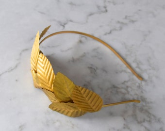 Gold Leaf Headpiece / Fascinator - Gold Headband