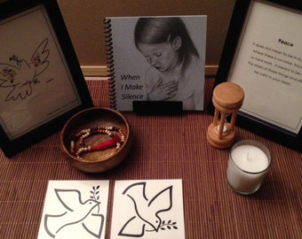 Silence and Quiet Reflection Montessori Peace Table Set