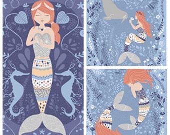 Lovey or Oversized Burp Cloths-Mermaid-Choice of Plush Minky Dot