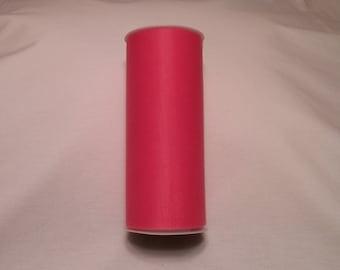 Shocking Pink Tulle, Shocking Pink Tulle Roll, Shocking Pink Tulle 25 yards, 6 inch tulle, Tulle, Tulle Fabric, Tutu Tulle, Wedding Tulle