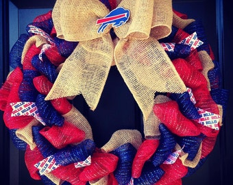 Custom Made NFL Buffalo Bills Wreath