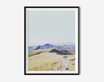 Mountain Photo, Fine art, Photo Print, Wales Photography, Wall Art, Home Decor, Nature Print, Modern Prints, Printable Art, Mount Snowdon
