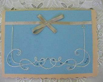 peach wedding invitations, peach and pale blue wedding invitations, elegant wedding invitations(10)