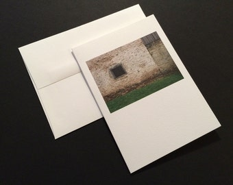 Farm. Stone Barn. Blank Greeting Card. Note Card. Photo Card.