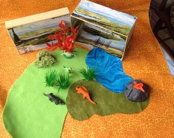 OOAK dinosaur diorama