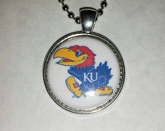 "KU Jayhawks 1"" Pendant Necklace"