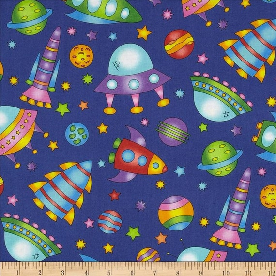 Spaceships cotton for Rocket fabric