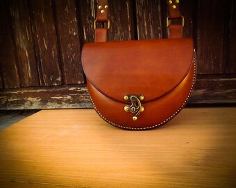 Smal leather bag, bag for women, genune leather, hand made smal bag,
