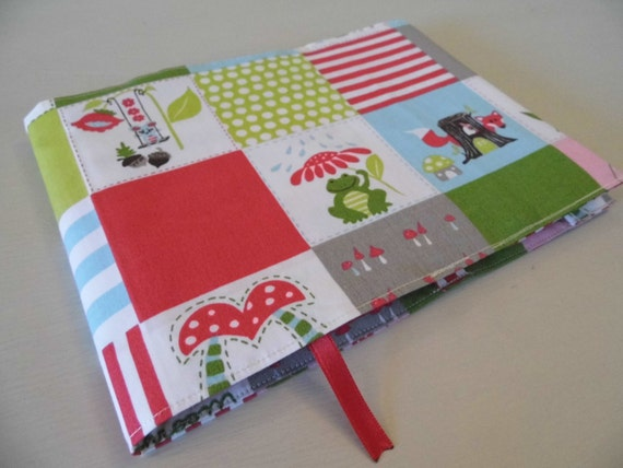 Nhs Red Book Cover Tutorial : Forest friends nhs red book handmade fabric cover by