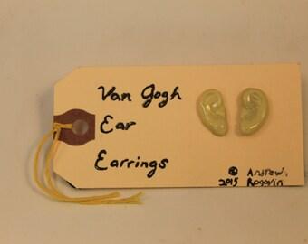 Van Gogh Ear Earrings, Lemon yellow