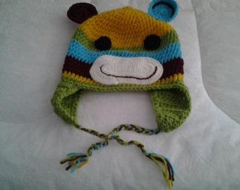 Monkey crocheted stocking hat