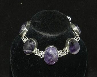CLEARANCE*  FT943 Amethyst Stone Bracelet