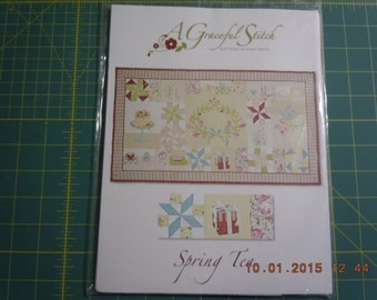 A Graceful Stitch, Spring Tea Pattern by Quilt Designs by Denise Sheehan