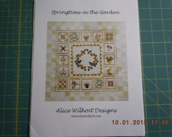ON SALE:  Springtime in the Garden Quilt Pattern by Alice Wilhoit Designs
