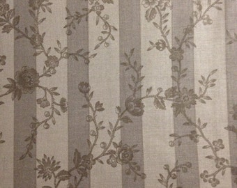 Taupe Flowers on Light and Dark Background, Papillon by 3 Sisters for Moda, 100% Cotton