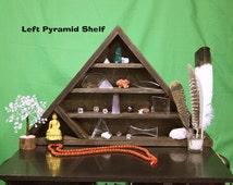 "Pyramid Crystal Display Shelf Unit - ""LEFT"" (Made to Order)"