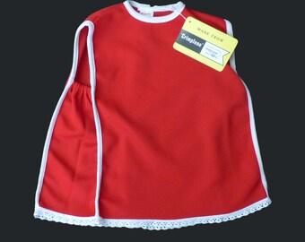 60's Red Mod Dress British Made 18-24 Months