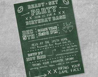 Football Birthday or Party Invitation