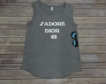 Tank J' Adore Dior Perfect Fit Print 100% cotton all sizes Print.