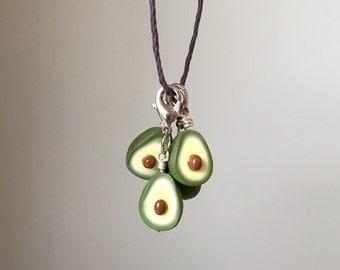 Avocado charm, avocado necklace, planner charm
