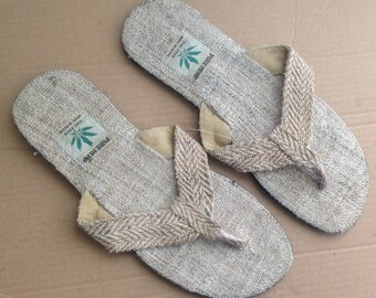 Pure Hemp Eco Friendly  Boehmain Flip Flops