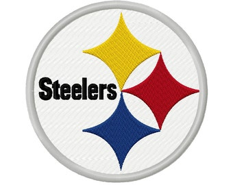 Steelers Solid Fill Embroidery Design 3x3 3.5x3.5 4x4 4.5x4.5 5x5  INSTANT DOWNLOAD