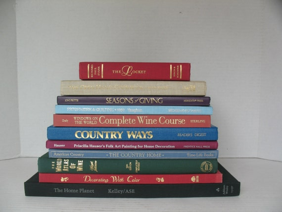 11 traditional decorative books in jewel tones to display - Decorative books for display ...