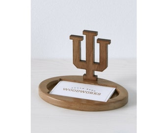 Indiana Trident Wooden Card Holder